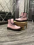 Женские ботинки Dr. Martens 1460 Pink, ботинки доктор мартенс, жіночі черевики Dr Martens, ботінки мартінс, фото 7