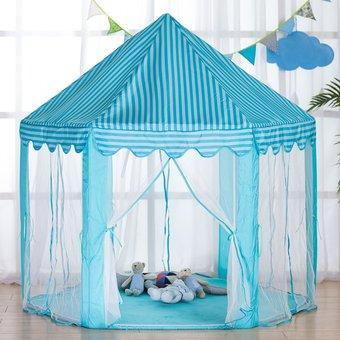 Детская палатка игровая Kruzzel голубая
