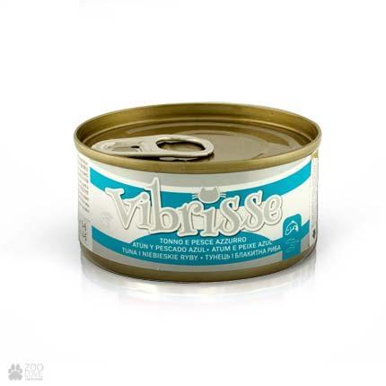 Консервированный корм для котов VIBRISSE тунец луфарь, 70 г