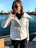 Якісна жіноча тепла куртка! Утеплена силіконом. Розміри: 42, 44, 46, фото 5