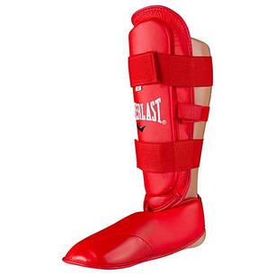 Защита для ног разбирающаяся (голень+стопа ) PU Everlast , красная, размер M, фото 2