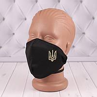 Захисна маска Герб України Чорна