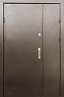 Двустворчатые металлические входные двери металл/металл Оптима на улицу 120 см.