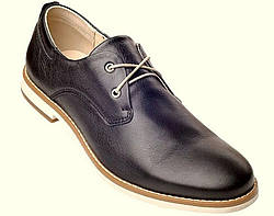 Туфли мужские классические черные из турецкой кожи на шнурках KONORS скидка
