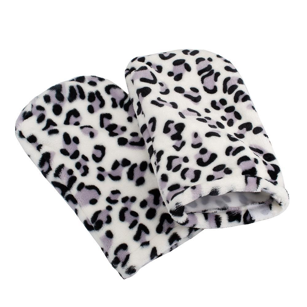 Варежки махровые для парафинотерапии Леопард