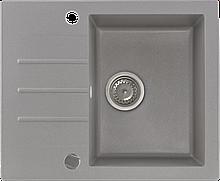 Гранитная мойка Kernau KGS A 4560 1B1D GREY METALLIC 60*50 серый металлик