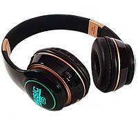 Bluetooth стерео наушники T15 с подсветкой Беспроводные с MP3 плеером