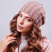 Вязаная женская шапка теплая