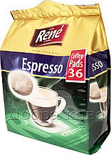 Rene Espresso 36 шт кофе в чалдах для Philips Senseo