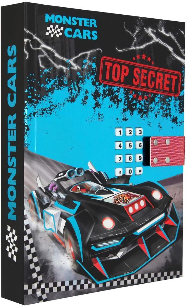 Monster Cars щоденник блокнот з паролем TOP SECRET(Дневник с кодовым замком от ТОП Модел для мальчика 10949_A)