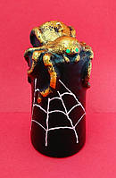 Декоративная свеча столбик Паук 10*5 см на Хэллоуин