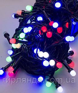 Лінза 8мм 100 LED, чорний провід 7м, мульті