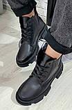 Ботинки женские демисезонные из натуральной кожи на низком ходу от производителя модель БС1095-2, фото 2