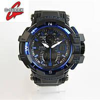 CASIO G-SHOCK GW-A1100 NEW BLACK/BLUE. Реплика ТОП качества!, фото 1