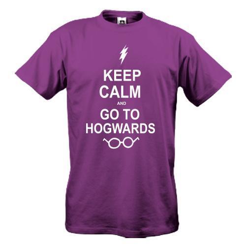 Футболка Keep calm and go Hogwards