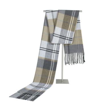 Чоловічий теплий шарф в клітку