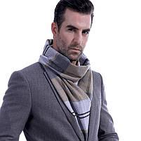 Чоловічий теплий шарф в клітку, фото 3