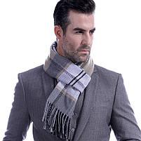 Чоловічий теплий шарф в клітку, фото 7
