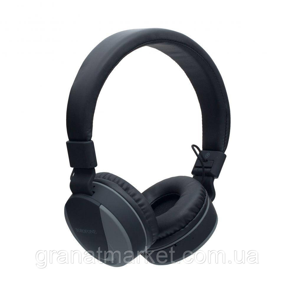 Беспроводные Bluetooth-наушники Borofone BO3 Цвет Серый