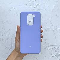 Чехол на Xiaomi Redmi Note 9 Silicone Case фиалковый силиконовый / для сяоми редми нот 9, ксяоми ноут ксиоми