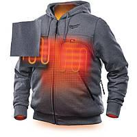 Куртка (толстовка) з електропідігрівом акум. MILWAUKEE, M12 HHGREY2-0(L) сіра