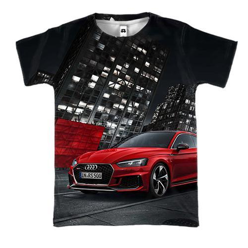 3D футболка Audi Red and Black