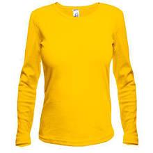 Жовтий жіночий лонгслив