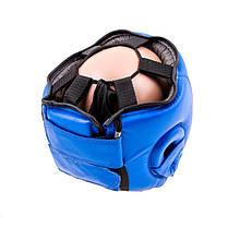 Шлем боксерский кожаный синий Everlast, размер L, фото 3