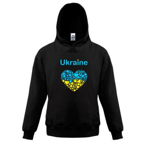Детская толстовка Ukraine - сердце