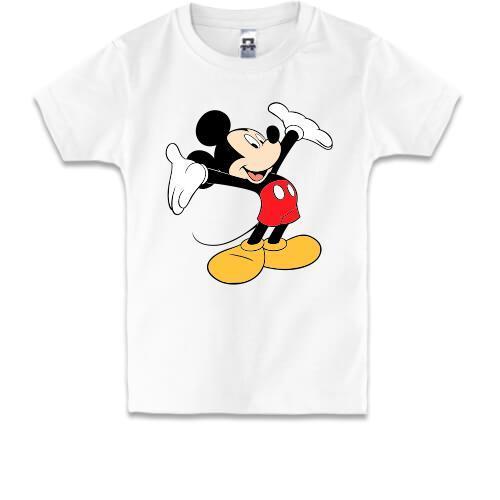 Детская футболка с Микки - а вот и я!