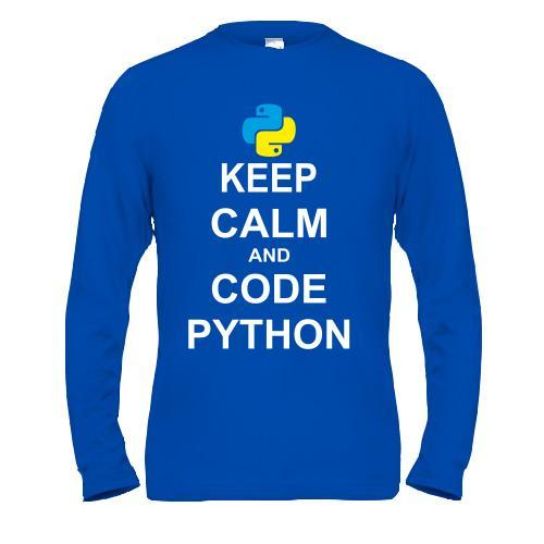 Лонгслив Keep calm and code python