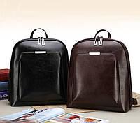 Стильный женский городской рюкзак сумка 2 в 1. Качественный рюкзачек сумочка черный коричневый