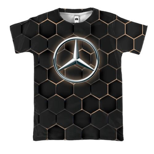 3D футболка Mercedes-Benz Logo