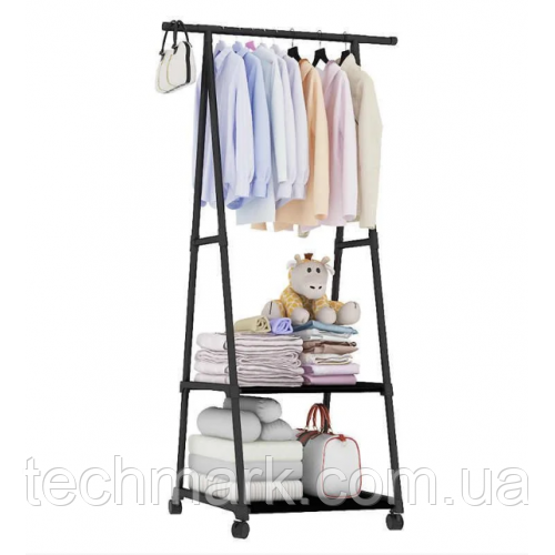 Передвижная напольная вешалка для одежды THE NEW COAT RACK 160х55х42 см