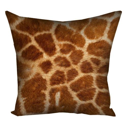 Подушка с принтом Окраска жирафа 40x40 см (4P_ANI004)