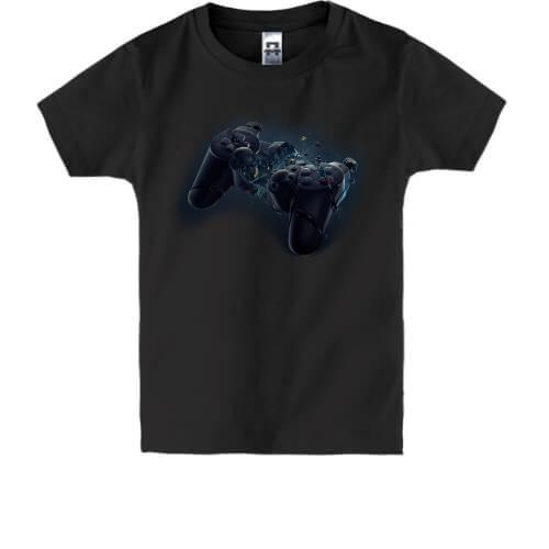 Детская футболка с разбитым джойстиком от PlayStation