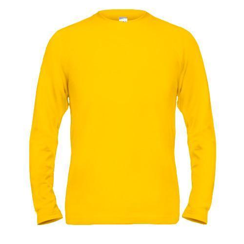 Желтый мужской лонгслив