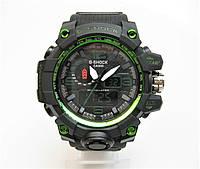 Годинник Casio G-Shock GWG-1000 NEW Black/Green MILITARY. Репліка ТОП якості!
