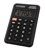 Калькулятор Citizen LC-210NR, карманный 98х62х10мм, 8 разрядов 40г черный