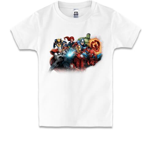 Детская футболка marvel heroes