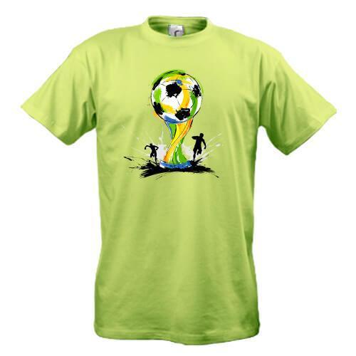 Футболка с футбольным кубком