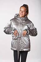 Детская подростковая куртка для девочки Lika (164см) Серый Tiaren на весну-осень