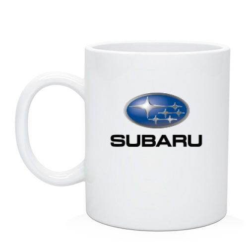 Чашка с лого Subaru