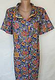 Летний халат с коротким рукавом 54 размер Пионы, фото 3