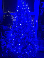 Гирлянда-led пучок/конский хвост 10 шт*2м синяя