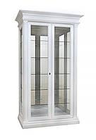 Белая двухдверная витрина Соната из дерева