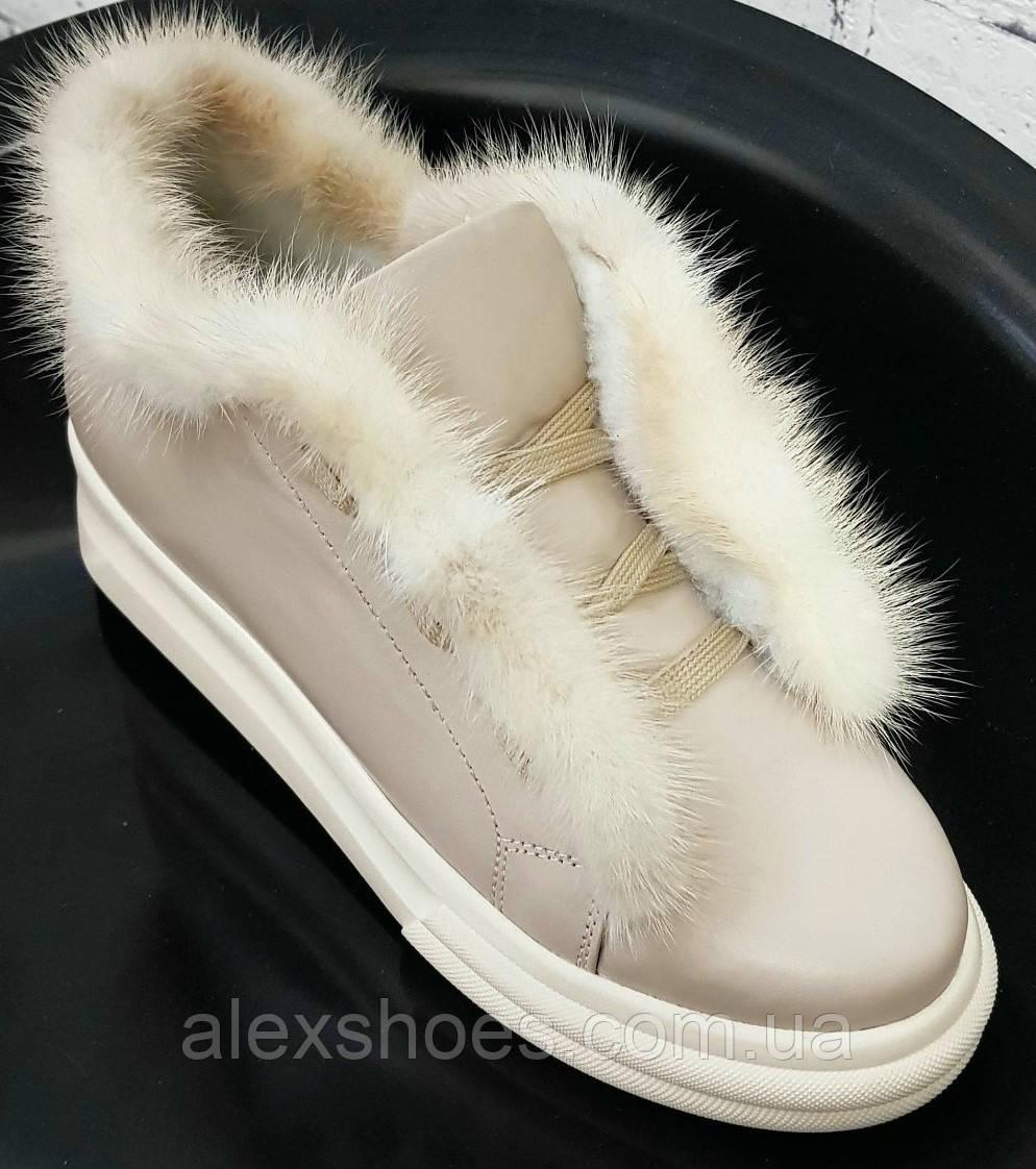 Ботинки молодежные на толстой подошве из натуральной кожи от производителя модель БС20035-3