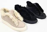 Ботинки молодежные на толстой подошве из натуральной кожи от производителя модель БС20035-3, фото 4