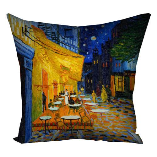 Подушка с принтом Ночная терраса 40x40 см (4P_OS016)