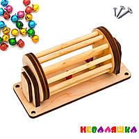Заготовка для Бизиборда Барабанчик с Колокольчиками  ЗВУК Дерев'яні дзвіночки для бізіборда бубенчики